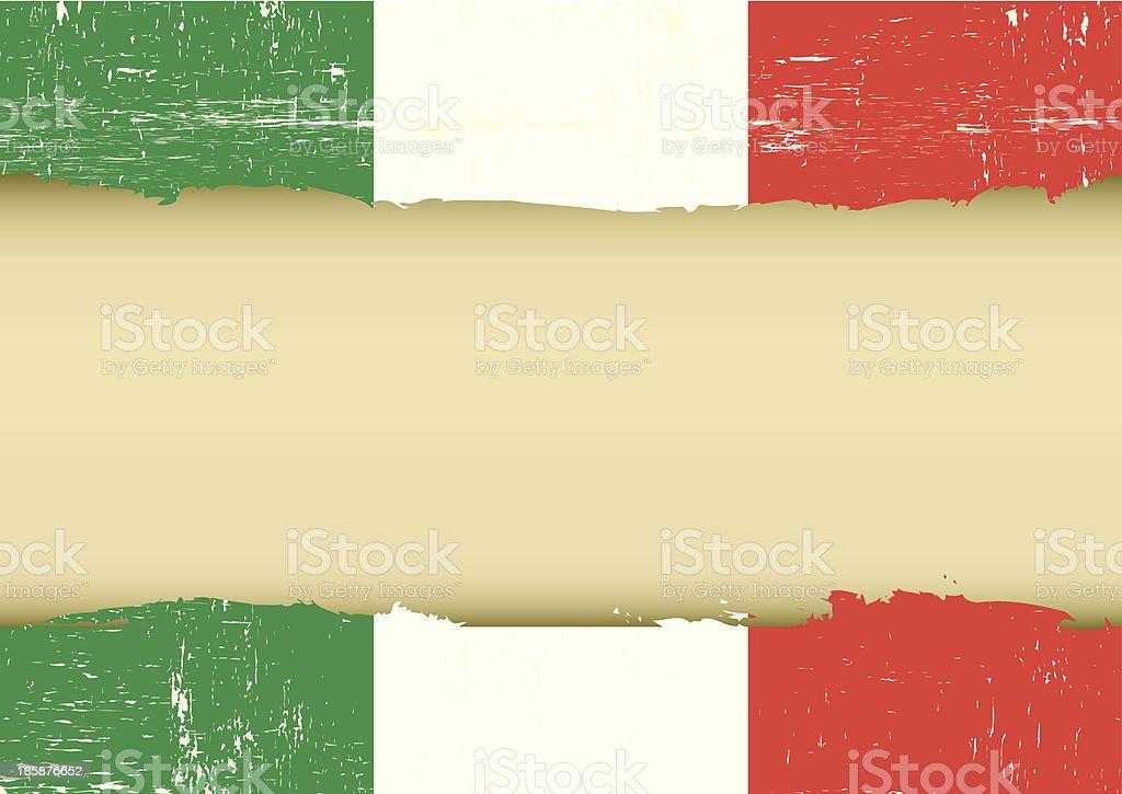 Italian scratched flag vector art illustration