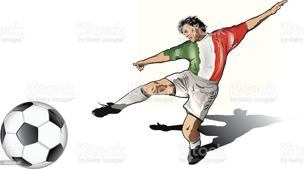 Italienische soccer player Lizenzfreies italienische soccer player stock vektor art und mehr bilder von 25-29 jahre