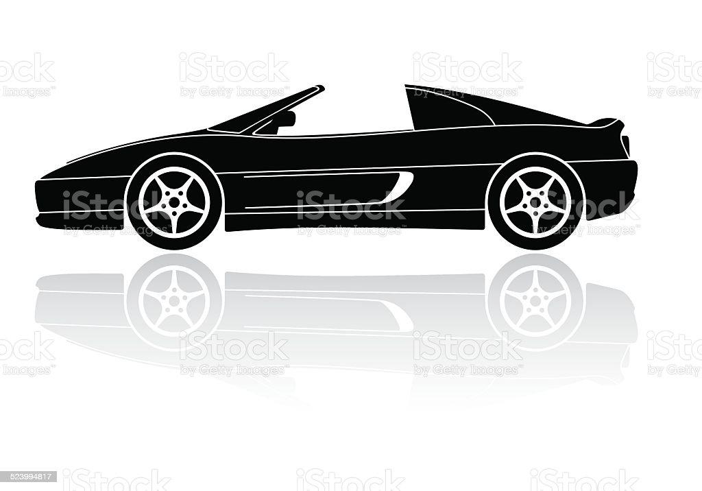 Italian Sports Car Silhouette Vector Icon Stock Vector Art More