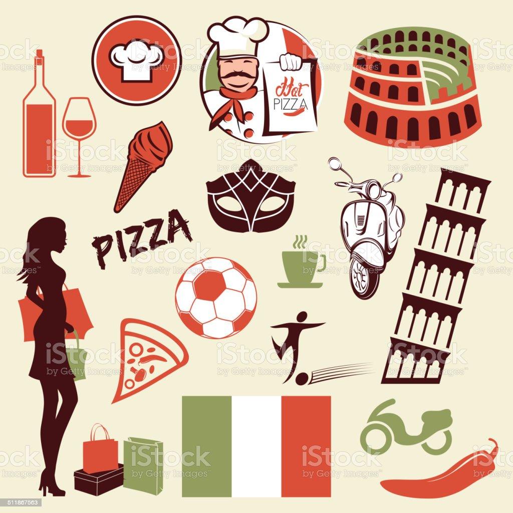 Italian Symbols Stock Vector Art More Images Of Architecture