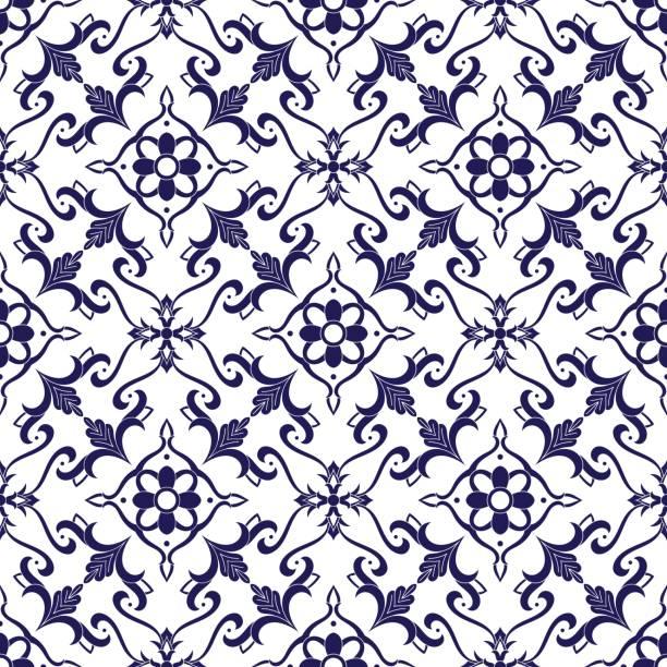 ilustraciones, imágenes clip art, dibujos animados e iconos de stock de vector patrón de mosaico italiano - patrones de azulejos
