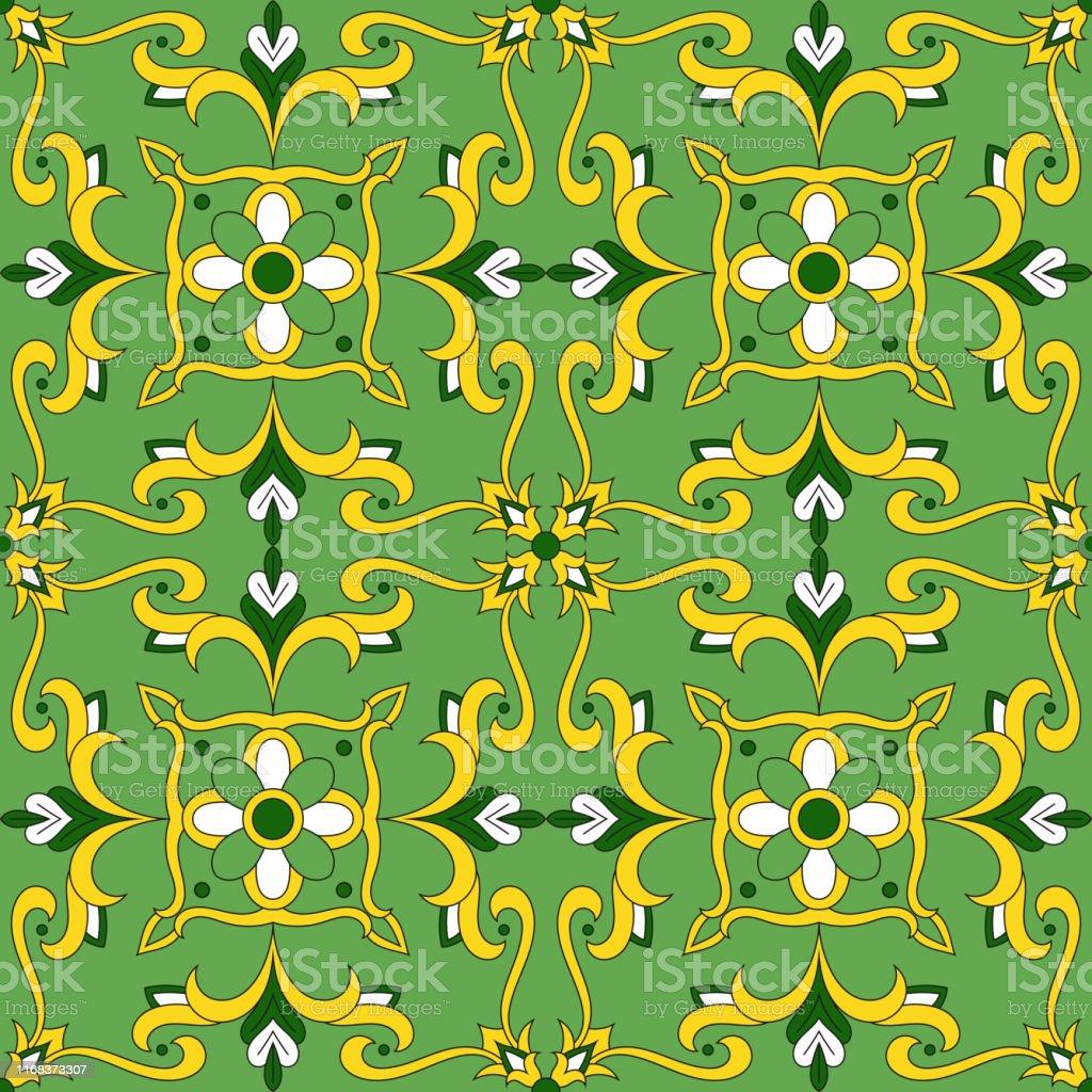 イタリアのタイルパターンベクトルは緑の花の装飾品とシームレスポルトガルのアズレホスペイン語メキシコのタラベラやモロッコのモチーフ壁紙テーブルクロスや枕生地のた アラビア風のベクターアート素材や画像を多数ご用意 Istock