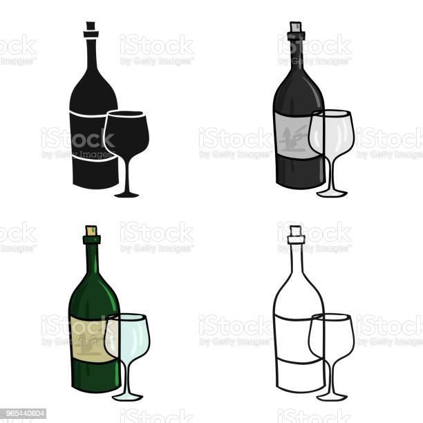 Italienische Weine Aus Italiensymbol Im Cartoonstil Die Isoliert Auf Weißem Hintergrund Italien Land Symbol Lager Web Vektorgrafik Stock Vektor Art und mehr Bilder von Alkoholisches Getränk