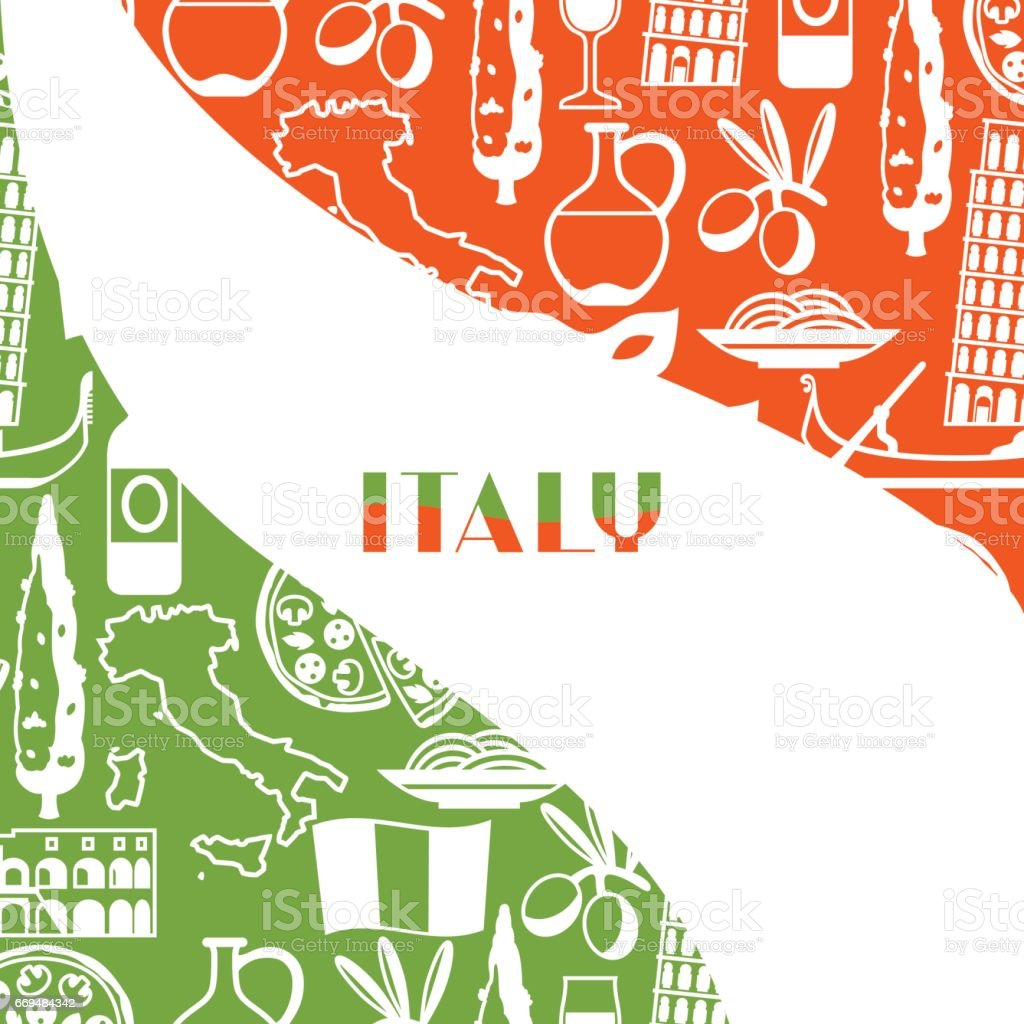 Super Italy Background Design Italian Symbols And Objects stock vector  WP17