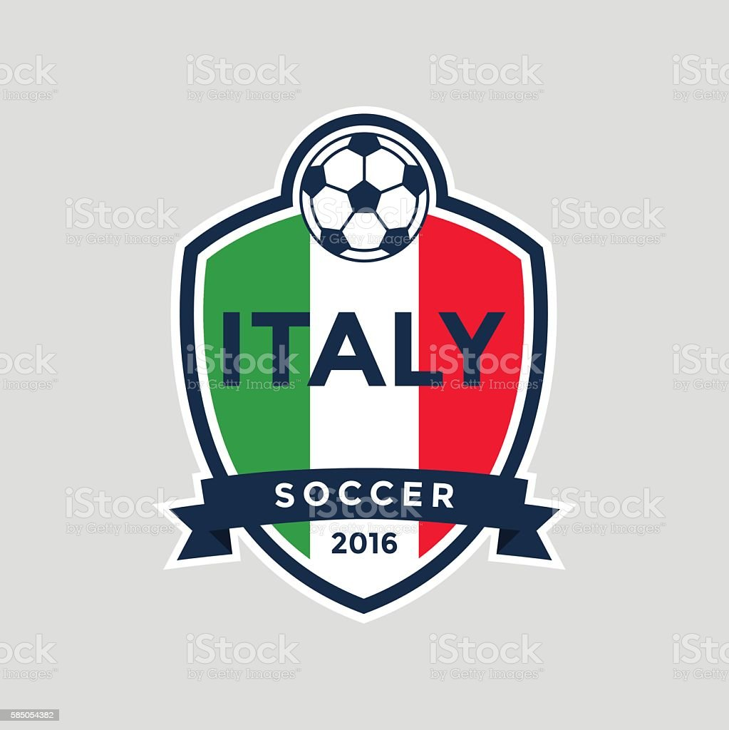 Italy Championship Soccer Crest. Royalty Free Italy Championship Soccer  Crest Stock Vector Art U0026amp