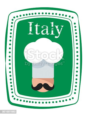 istock Italy Cook Stamp 951681880
