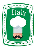 Vector Italy Cook Stamp