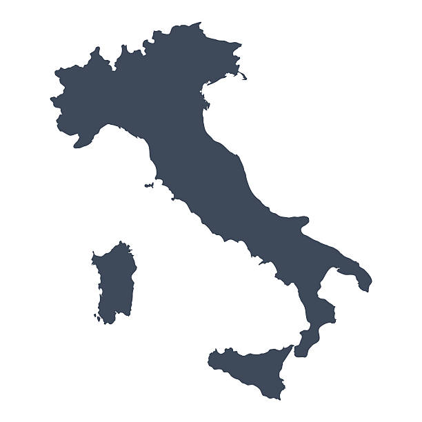 Italy country map vector art illustration