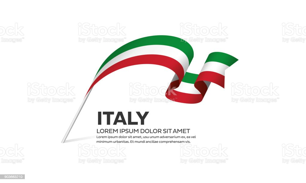 Italy flag background vector art illustration