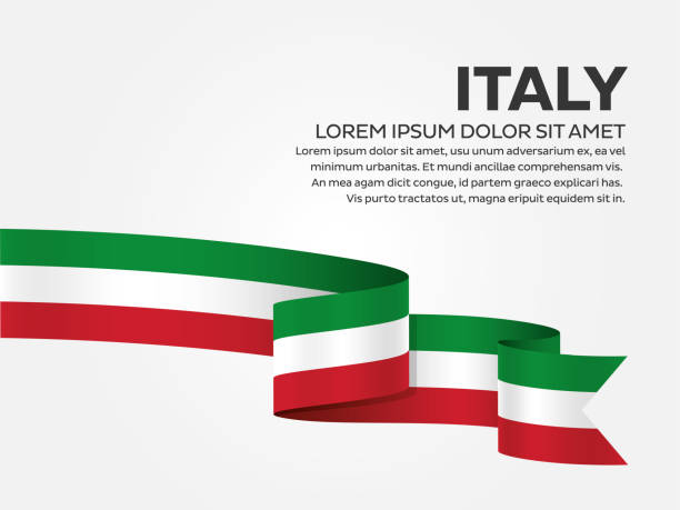 italien flagge hintergrund - italien stock-grafiken, -clipart, -cartoons und -symbole