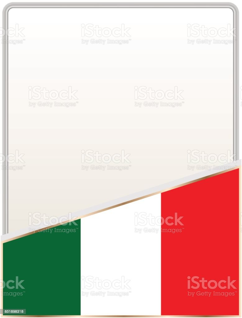 Italy Flag Frame Stock Vector Art & More Images of Backgrounds ...