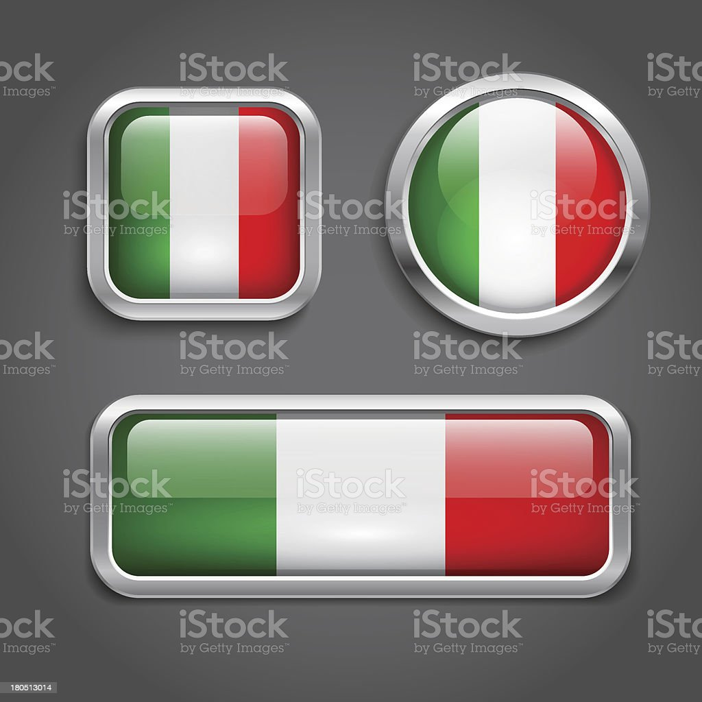 Italy flag glass buttons royalty-free italy flag glass buttons stock vector art & more images of badge