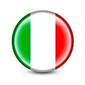 High detailed Vector Italy Flag Icon on white background