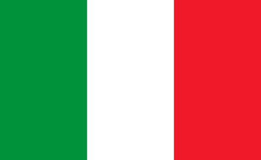 Italy flag. Italian national icon. Design of italia emblem. Banner of italy. Background for europe country. Green, white and red color for official badge. Illustration for button and sticker. Vector