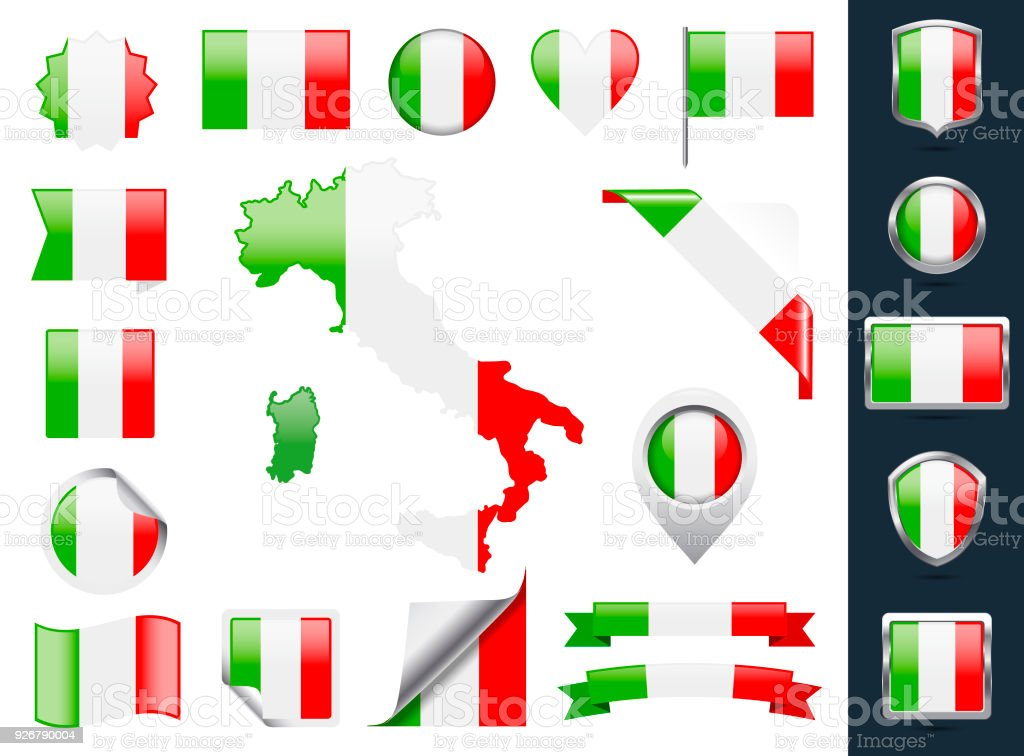 Italy Flag Vector Collection
