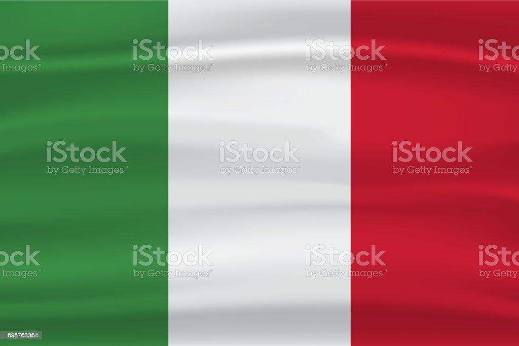 Italy flag vector art illustration