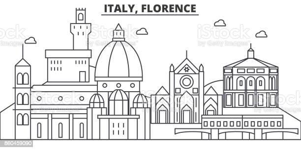 Italy florence architecture line skyline illustration linear vector vector id860459090?b=1&k=6&m=860459090&s=612x612&h=8pqtkqfn2qjgqr1tn8brdweq0jqmhw6ymezsc1yn6wu=