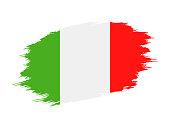 Italy - Grunge Flag Vector Flat Icon