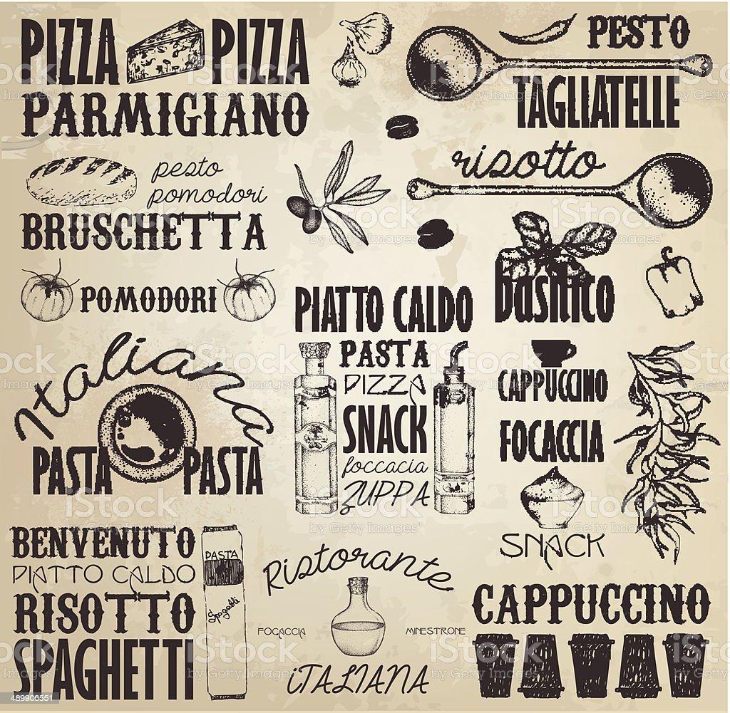 Italy labels vector art illustration
