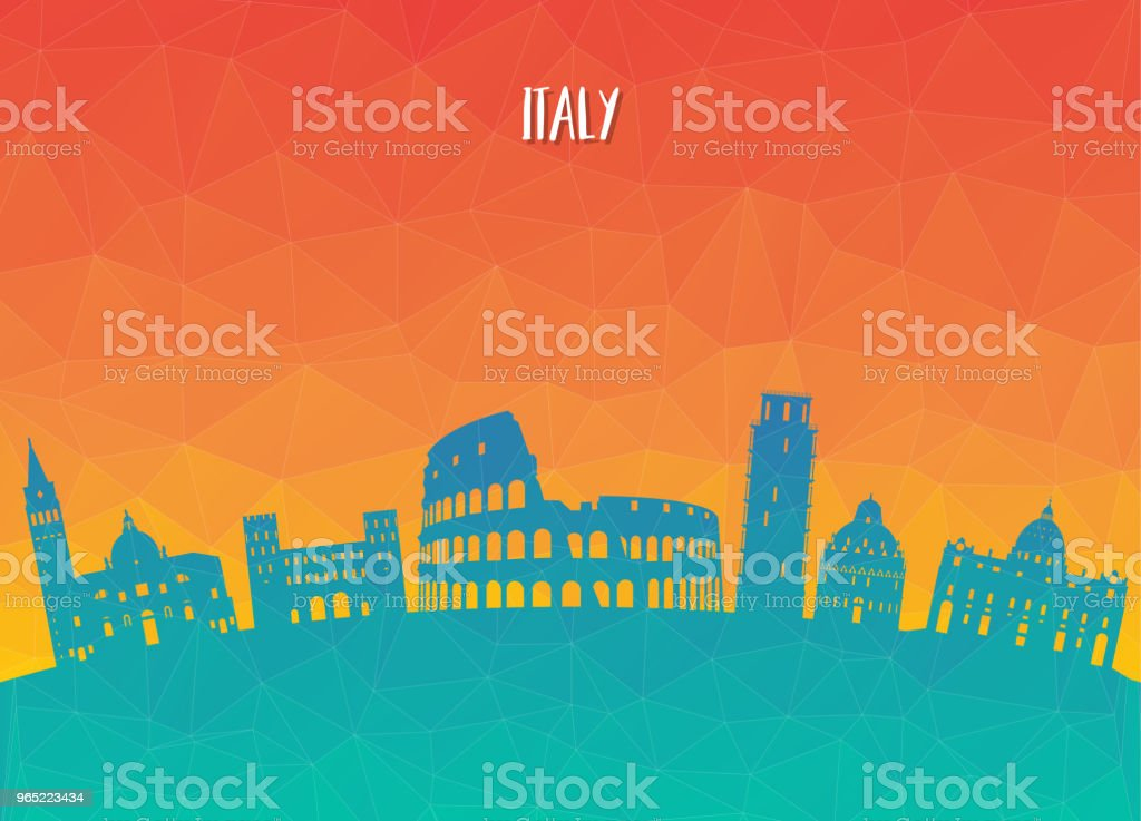 Italy Landmark Global Travel And Journey paper background. Vector Design Template.used for your advertisement, book, banner, template, travel business or presentation. italy landmark global travel and journey paper background vector design templateused for your advertisement book banner template travel business or presentation - stockowe grafiki wektorowe i więcej obrazów architektura royalty-free