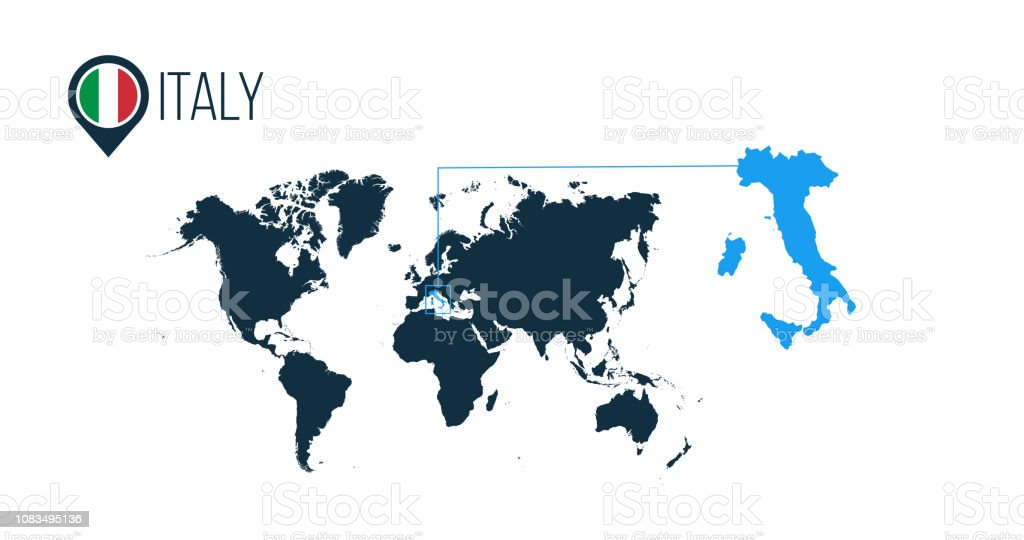 Map Of Asia No Names.Italy Location On The World Map For Infographics All World Countries