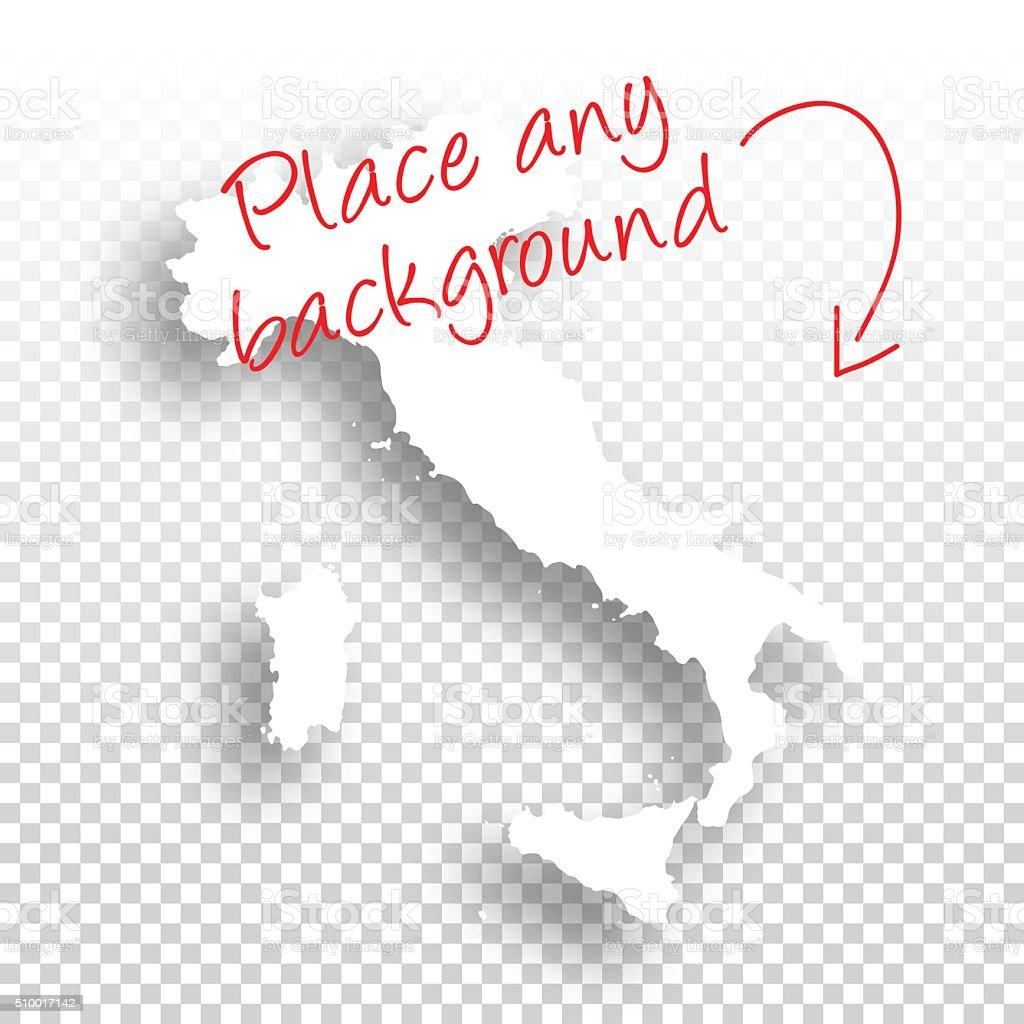 Italien Karte Für Designvorlage Hintergrund Stock Vektor Art und ...