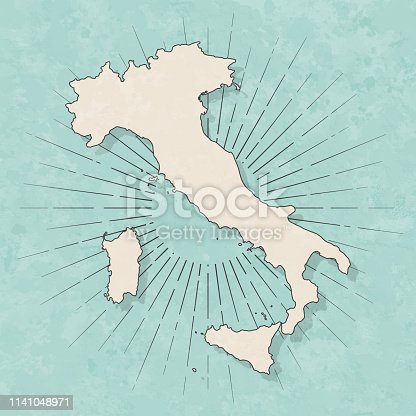 istock Italy map in retro vintage style - Old textured paper 1141048971
