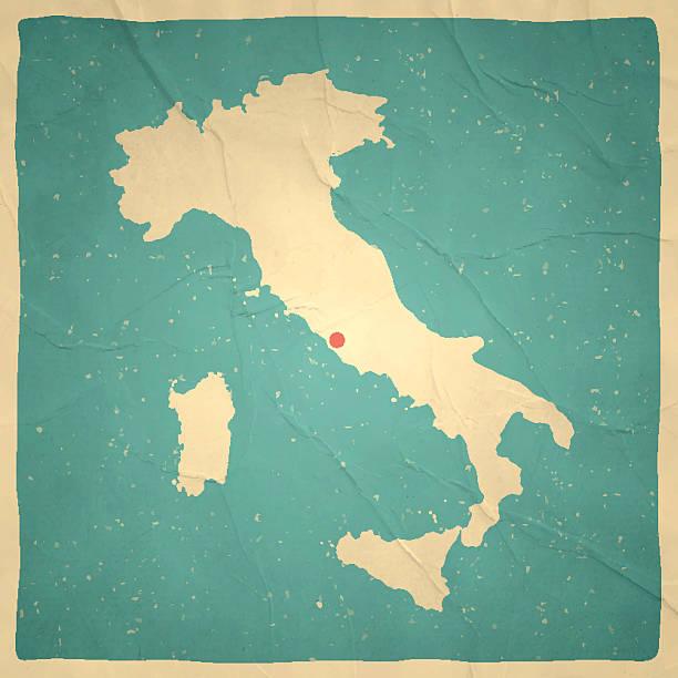 illustrazioni stock, clip art, cartoni animati e icone di tendenza di italia mappa su vecchia carta trama vintage - sardegna