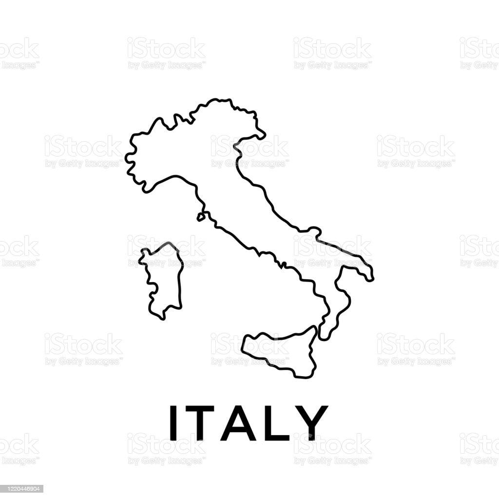 イタリア マップ ベクトル デザイン テンプレート - アイコンの ...