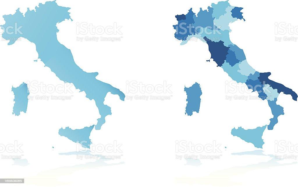 Italia Cartina Vettoriale.Mappa Di Italia Immagini Vettoriali Stock E Altre Immagini Di Blu Istock