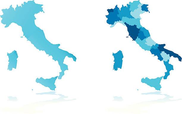italien karte - italien stock-grafiken, -clipart, -cartoons und -symbole