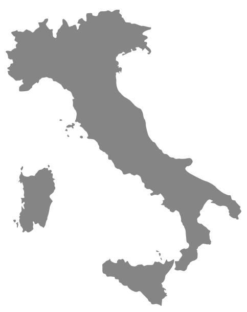 illustrazioni stock, clip art, cartoni animati e icone di tendenza di italy map - cartina italia