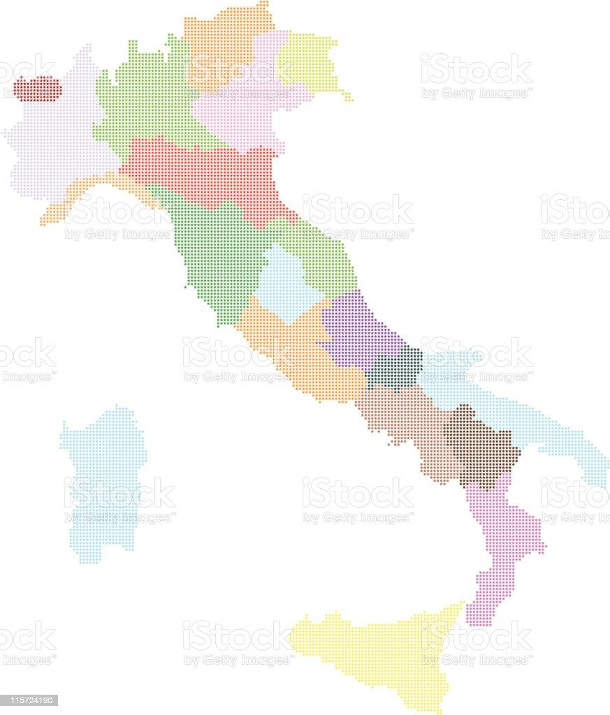 Italy map vector royalty-free stock vector art