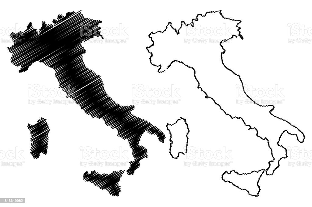 Italy map vector vector art illustration