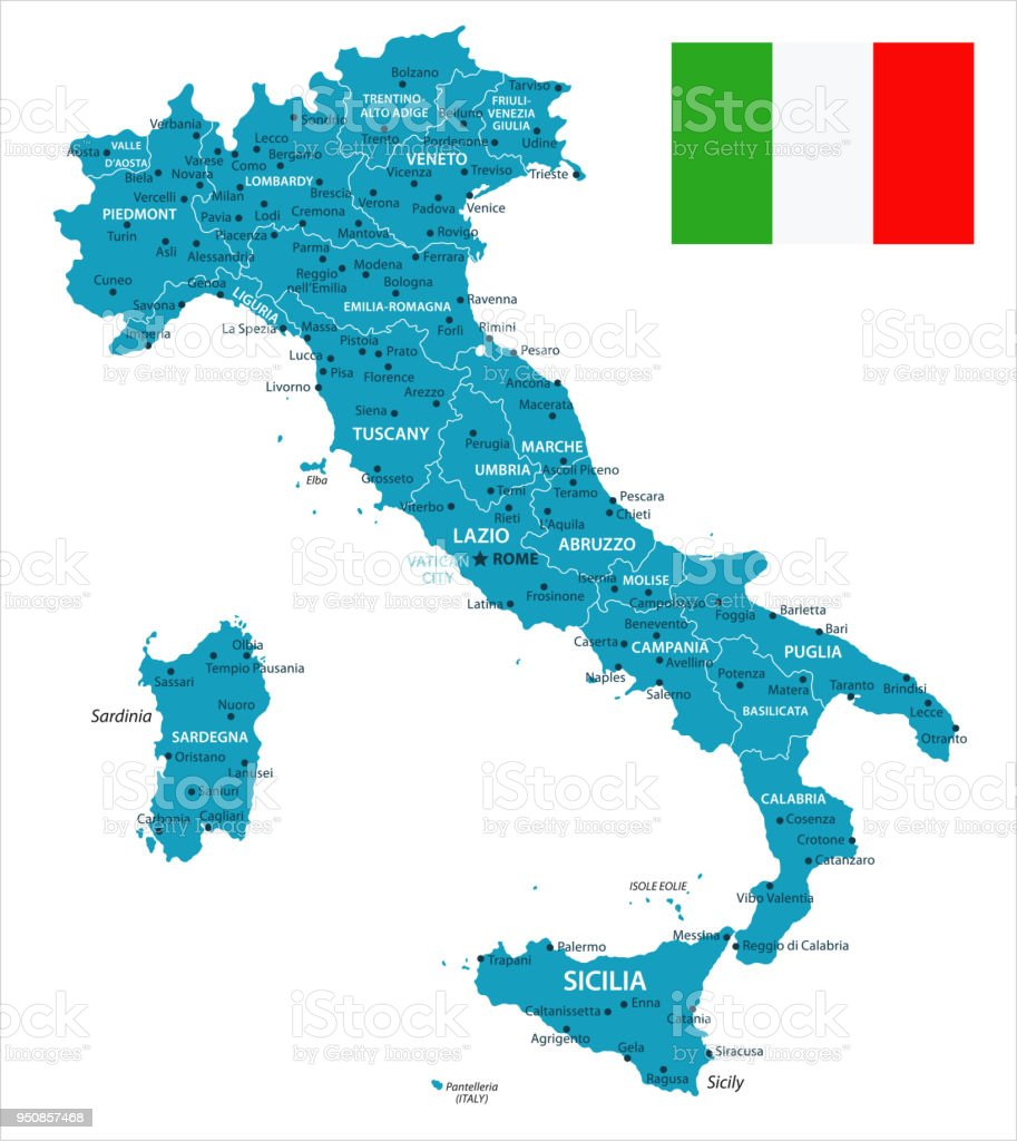 11 - Italy - Murena Isolated 10 vector art illustration