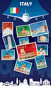 Vector Italy Postage