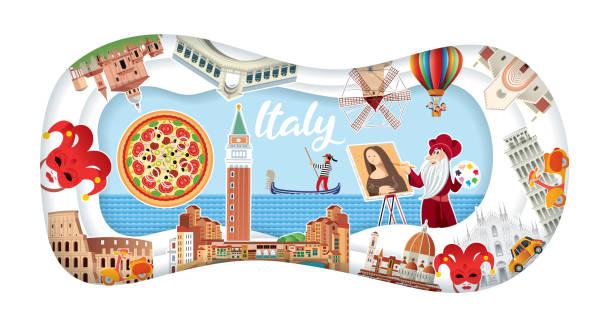 Italy Poster Vector Italy Poster reggio calabria stock illustrations
