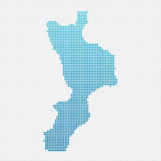 Italy Regions Calabria Map Blue Dot Pattern Abstract dot pattern vector map of the region of Calabria, Italy. Carefully built with little circles. The country dots and background dots are each grouped as a compound path, so you can easily change colors and even use gradients with just a few clicks. File was created on July 24, 2015. The colors in the .eps-file are ready for print (CMYK). Included files are EPS (v10) and Hi-Res JPG (3000 x 3000 px). calabria stock illustrations