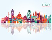 Italy skyline. Vector illustration