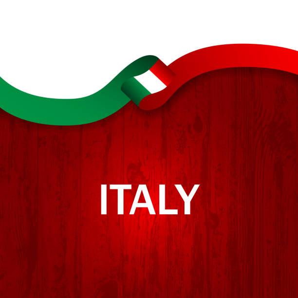 italien-sport-style-flagge band hölzernen stil. vektor-illustration - italien stock-grafiken, -clipart, -cartoons und -symbole