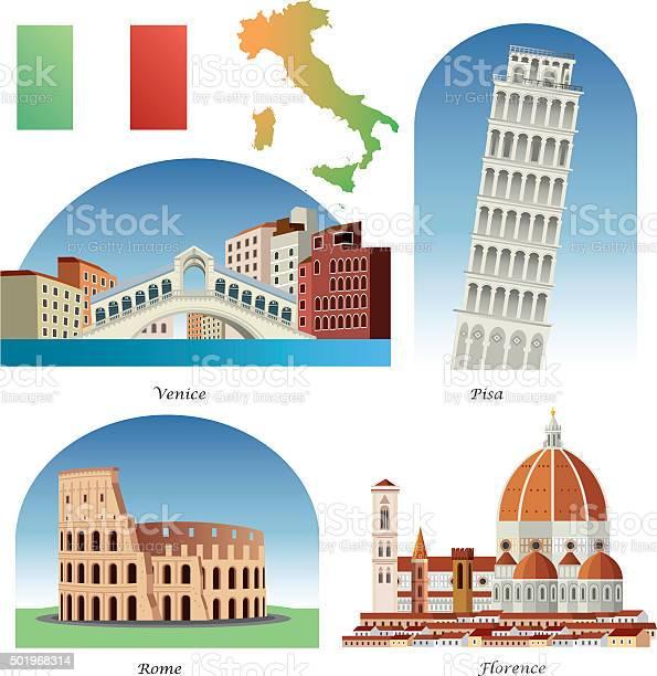 Italia Simboli - Immagini vettoriali stock e altre immagini di Affari finanza e industria