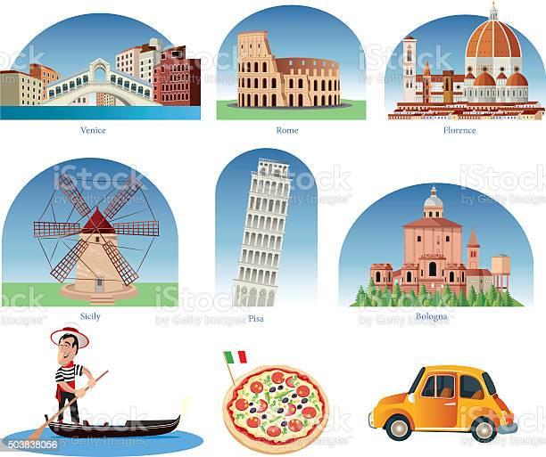Italia Simboli - Immagini vettoriali stock e altre immagini di 2015