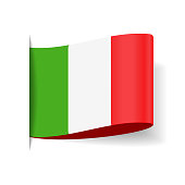 Italy - Tag Label Flag Vector Flat Icon