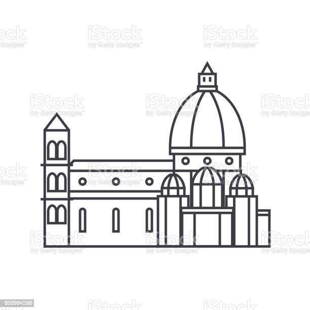 Italy temple florence cathedral vector line icon sign illustration on vector id858994266?b=1&k=6&m=858994266&s=612x612&h=t99y0jkbq 60kn2gfsjowrho7ggfhmtg0cxu7lqwajw=