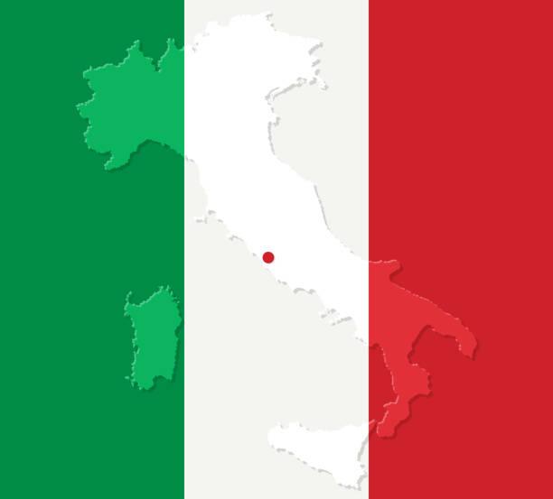 stockillustraties, clipart, cartoons en iconen met italië - stickers met relief