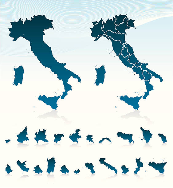 illustrazioni stock, clip art, cartoni animati e icone di tendenza di l'italia - calabria map