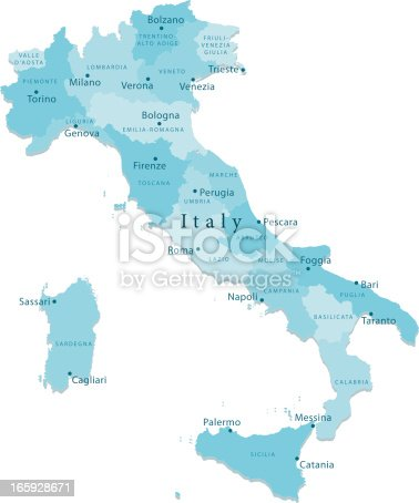 istock Italy Vector Map Regions Isolated 165928671