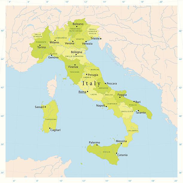 illustrazioni stock, clip art, cartoni animati e icone di tendenza di vector mappa italia - sardegna