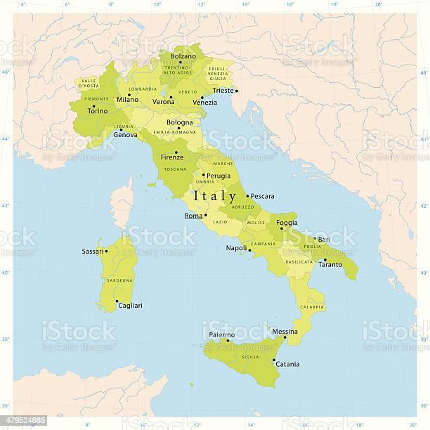 Vector Mappa Italia - Immagini vettoriali stock e altre immagini di Abruzzo