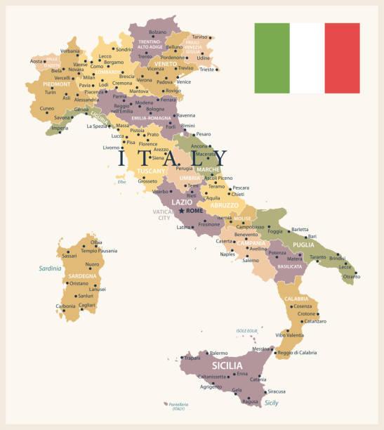 21 - italien - vintage isoliert 10 - italien stock-grafiken, -clipart, -cartoons und -symbole